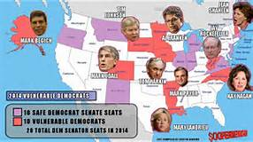Vulnerable US Senators in 2014 midterm election