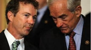 Rand Paul with his father, Ron Paul