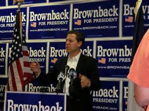 Gov. Sam Brownback ran for president in 1988. Chances are he won't be reelected governor of Kansas.