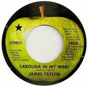Taylor's hit song was a remembrance of his time in rural North Carolina, when his father headed a medical school there.