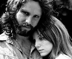The Lizard King with longtime girlfriend Pam Courson.