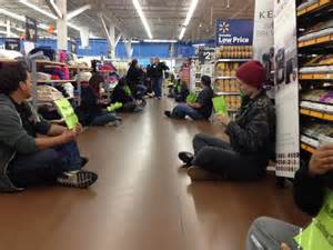 Last Thursday, Walmart employees staged their first-ever sit-in strike.