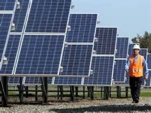 A California solar farm