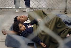 Typical scene at an immigrant detention center