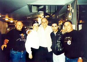 """Ralphie Head"" Abruzzi, George Borgesi, the late Frank Gambino, Merlino and Ligambi. Courtesy Philadelphia City Paper."