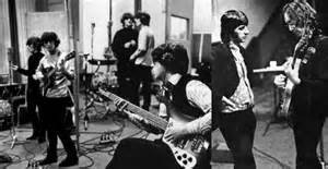 "Scenes from recording: Paul McCartney's switch to a Rickenbacker bass put the thump into a single released separately, ""Paperback Writer."""