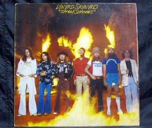 Lynyrd Skynyrd's 1977 album. Notice the Neil Young image on Ronnie Van Zant's t-shirt.
