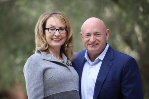 Mark Kelly, seen here with wife Gabby Giffords, is going to the Senate.